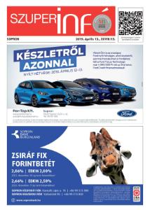 Soproni Szuperinfó - 2019.04.13.