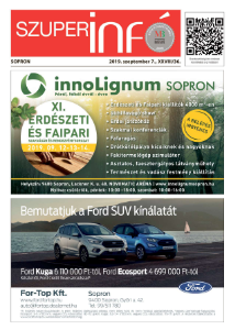 Soproni Szuperinfó - 2019.09.07.