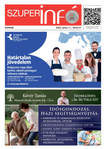 Soproni Szuperinfó - 2020.07.11.